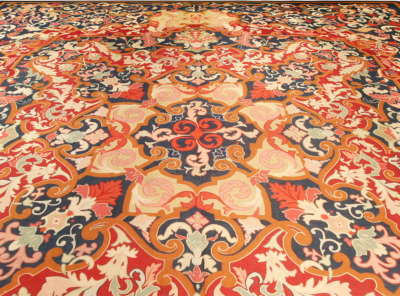 Antique French Aubusson Rug BB6755