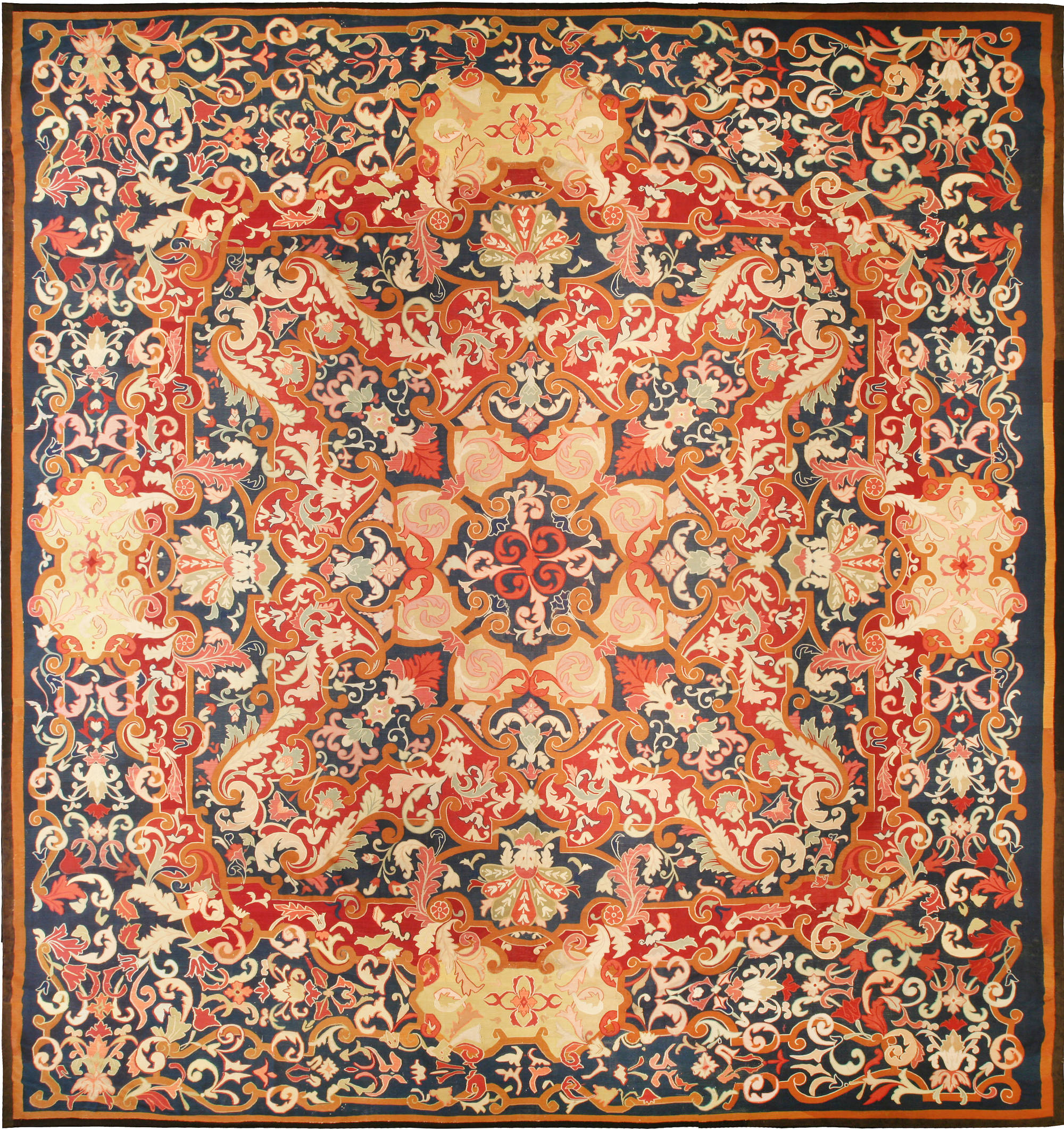 Antique French Aubusson Rug Bb6755 By Dlb