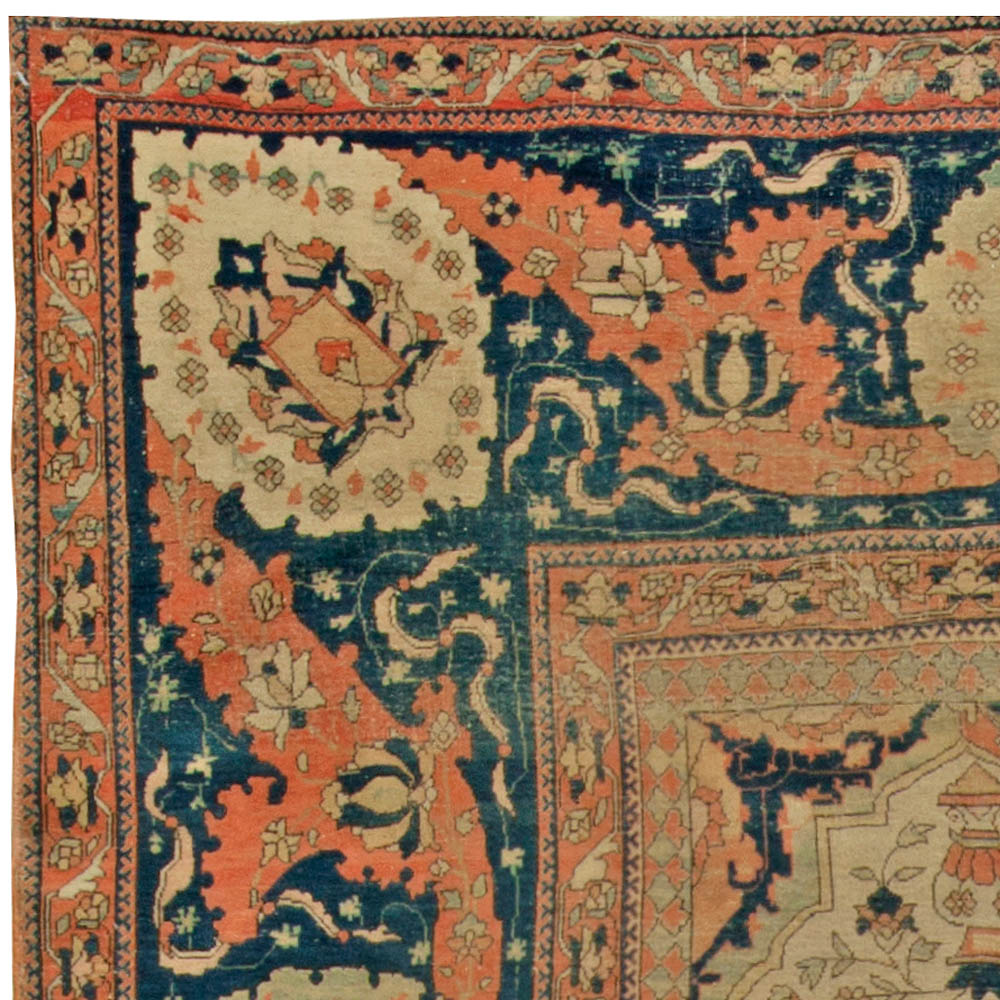 Antique Persian Mohtashem Kashan Rug BB6831