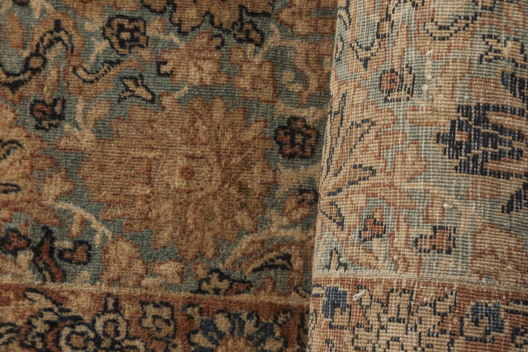 Antique Persian Kirman Handwoven Wool Rug BB6269