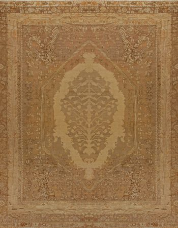 Oversized Antique Turkish Ghiordes Rug BB6810