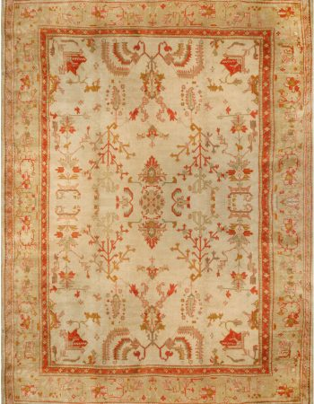 Antique Oushack Rug in Shades of Amber and Green BB7160