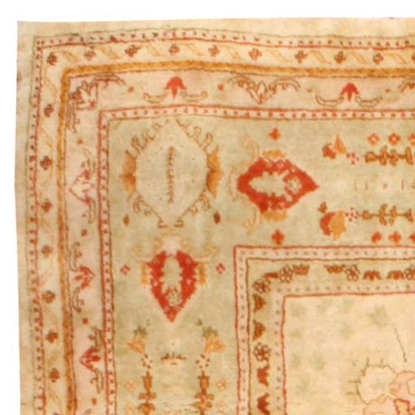 Antique Turkish Oushak Rug BB6725