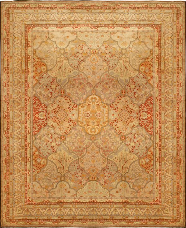Oversized Antique Turkish Oushak Rug BB6765