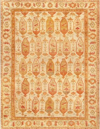 Antique Turkish Oushak Rug BB6757