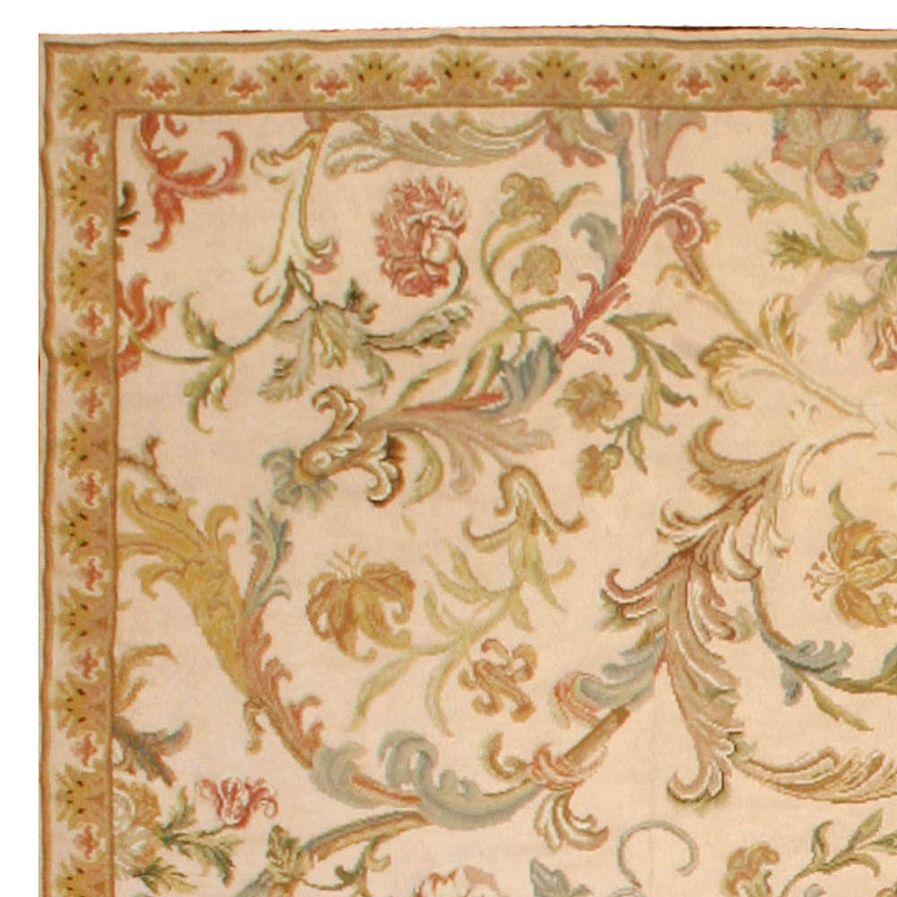 Antique English Needlework Carpet BB6748