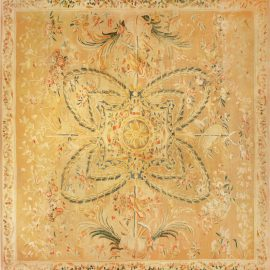 Oversized Antique French Aubusson Carpet BB6784