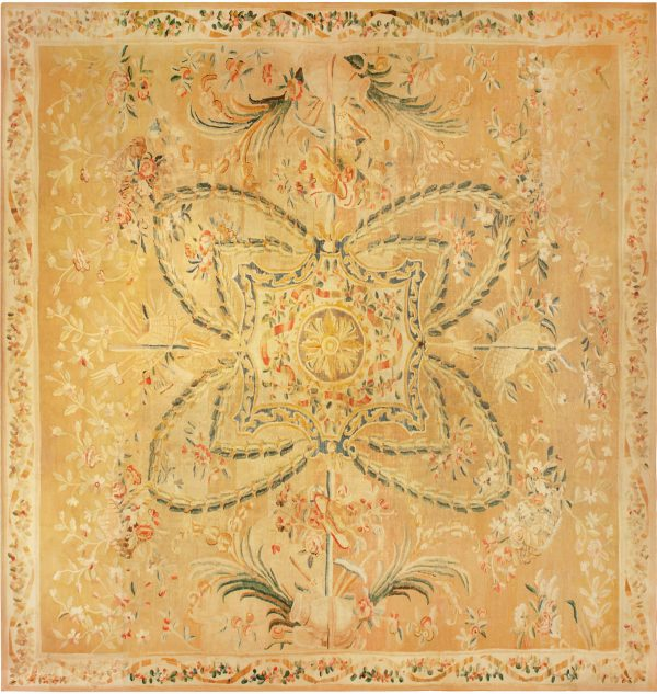 Oversized Antique French Aubusson Carpet BB6784