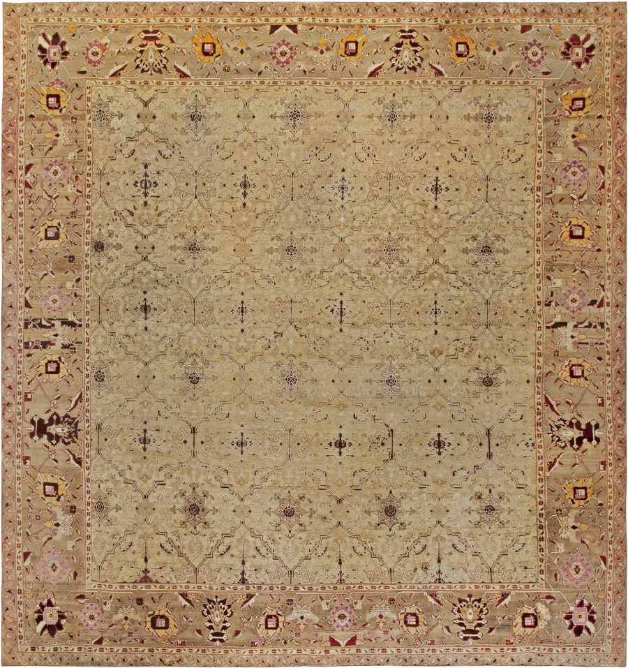 Antique Indian Agra Rug (Size Adjusted) BB6807
