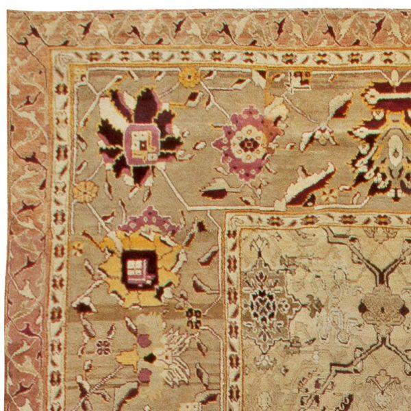 Antique Indian Agra Rug (Size Adjusted) BB6807