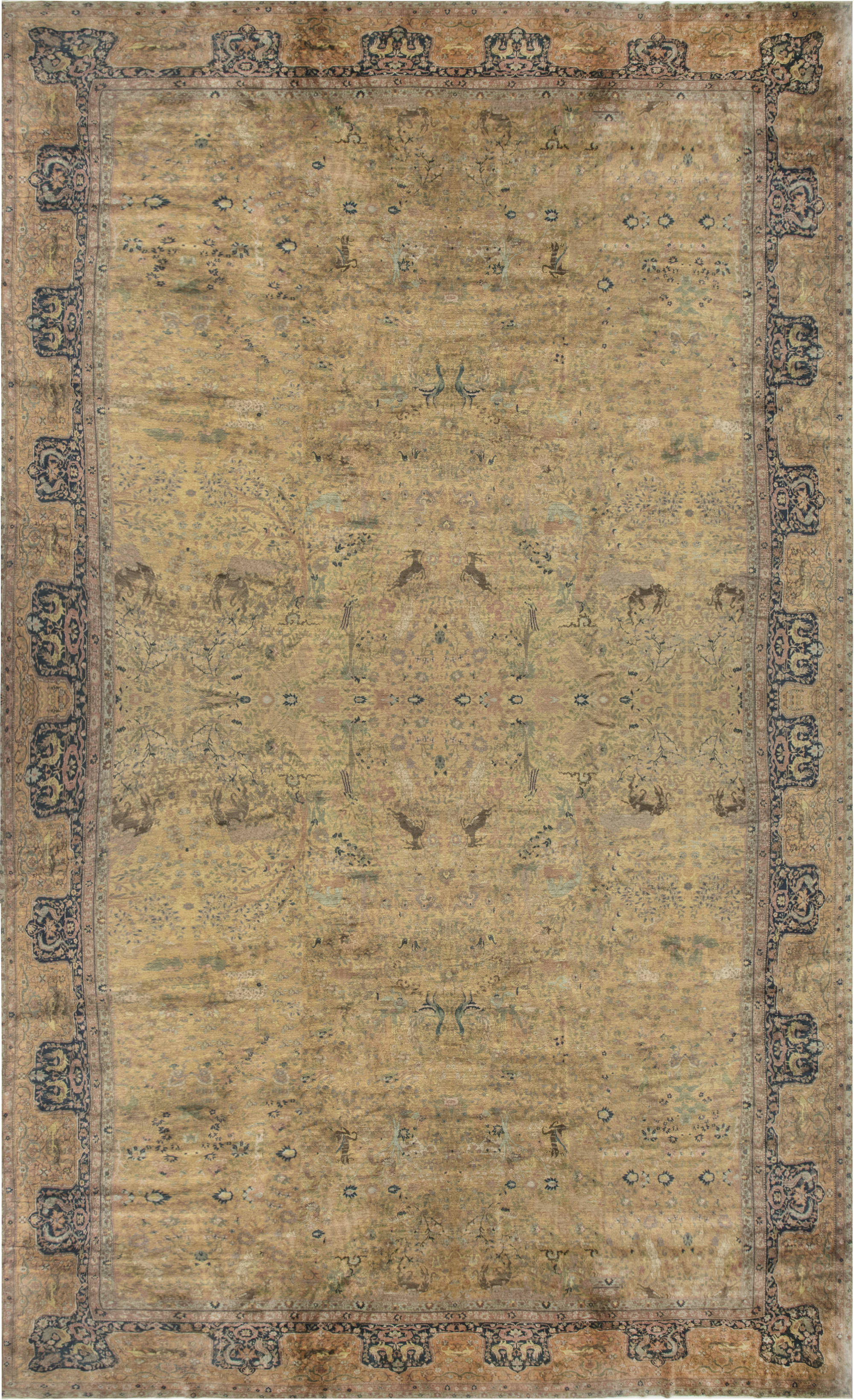 Oversized Antique Indian Rug BB6744