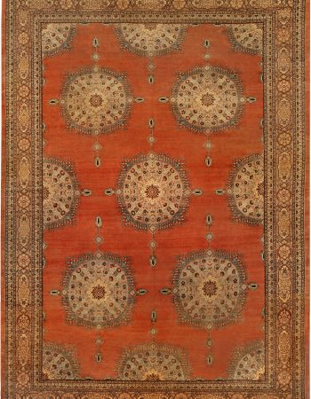 Antique persa Tabriz Tapete BB6745