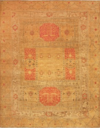 Antique Turkish Oushak Rug BB6779
