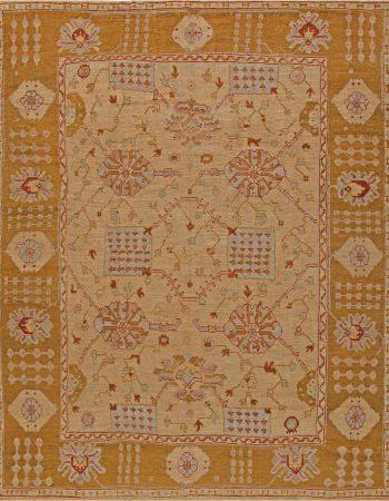 Vintage Turkish Oushak Rug BB6816