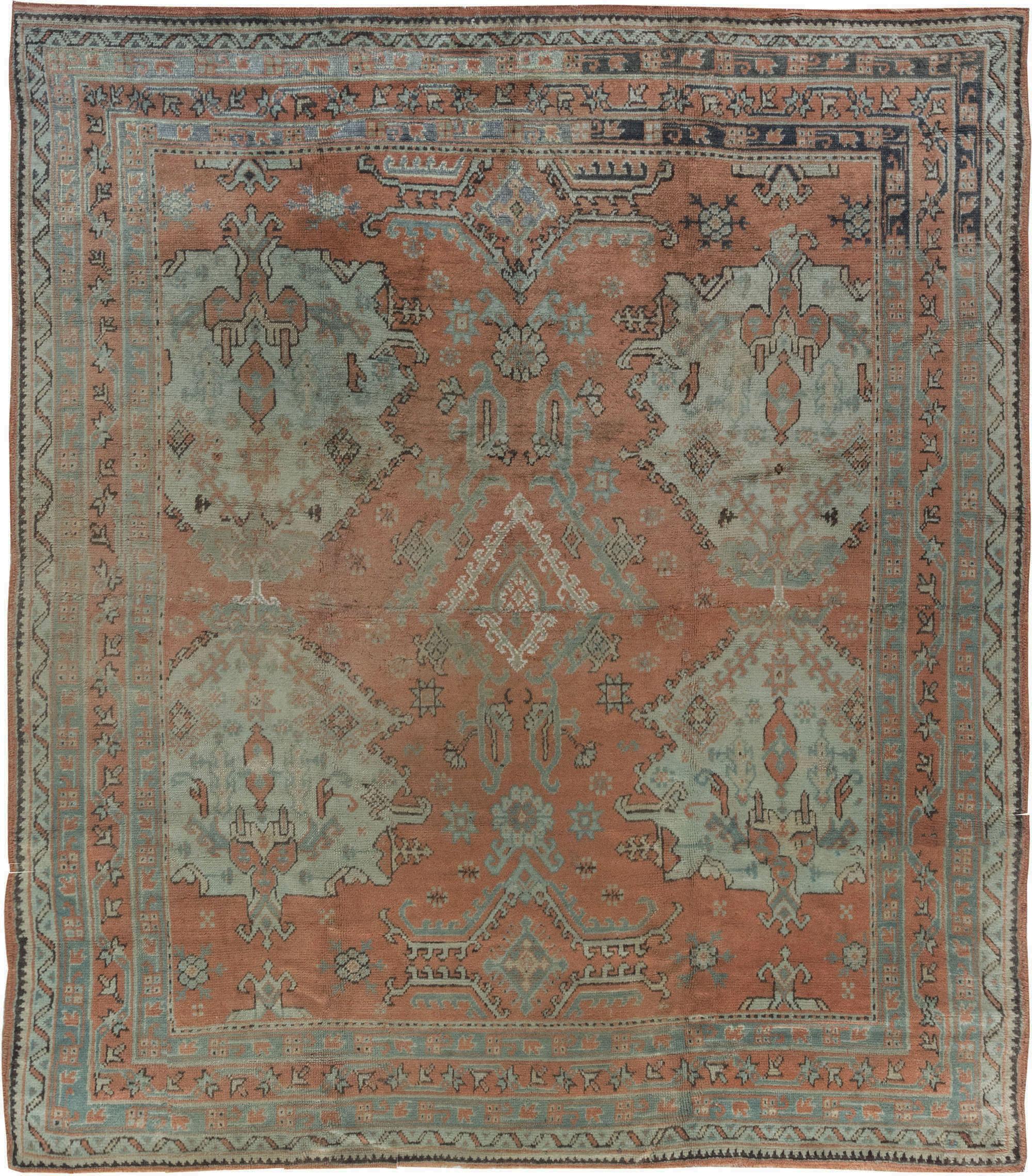 Antique Vintage Turkish Rugs: Antique Turkish Oushak BB6897 By Doris Leslie Blau