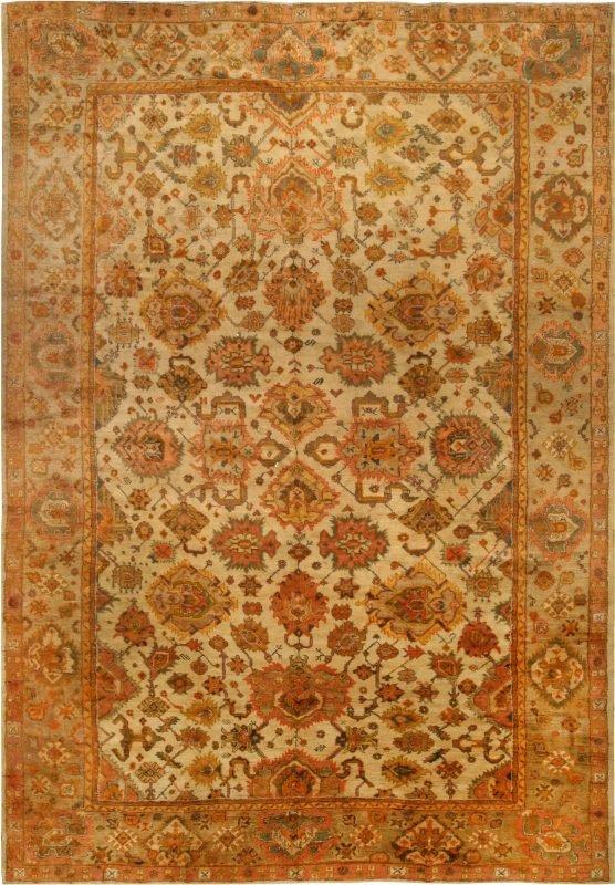 antique-carpets-turkish-oushak-orange-botanical-16×12-bb6763