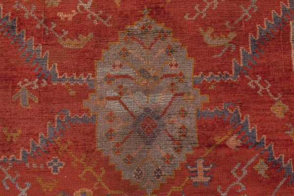 Oversized Antique Turkish Oushak Rug BB6677