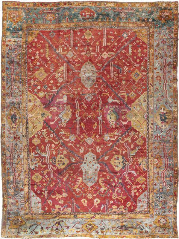 Oversized Antique Turkish Oushak Rug BB6677