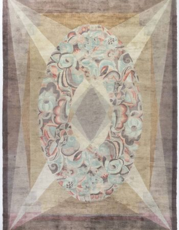 Vintage French Art Deco Rug BB6806