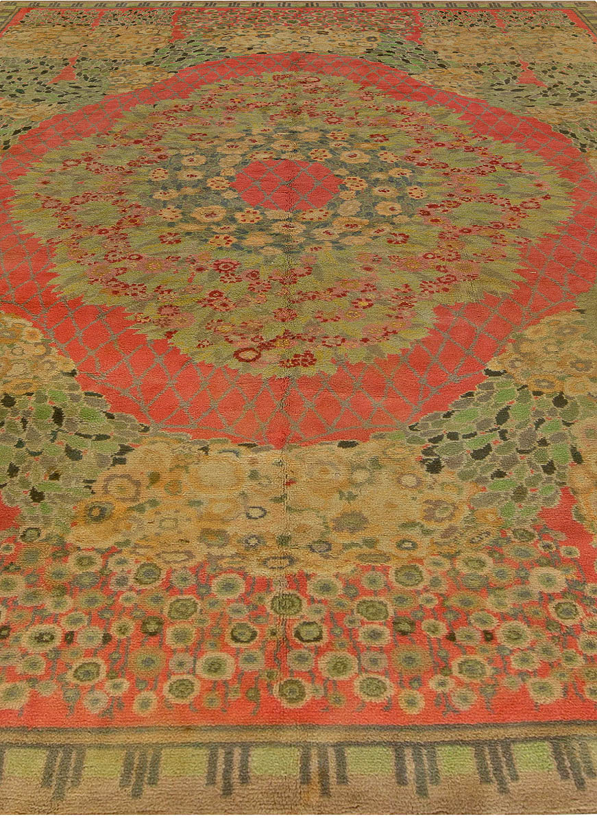 Vintage French Deco Rug By Paul Follot Bb6824 By Doris