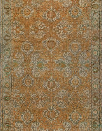Oversized Antique Indian Agra Rug BB6797