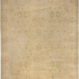 19th Century Indian Amritsar Beige, Camel and Caramel Rug BB6593