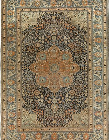 Antique Persian Mohtashem Kashan rug BB6834