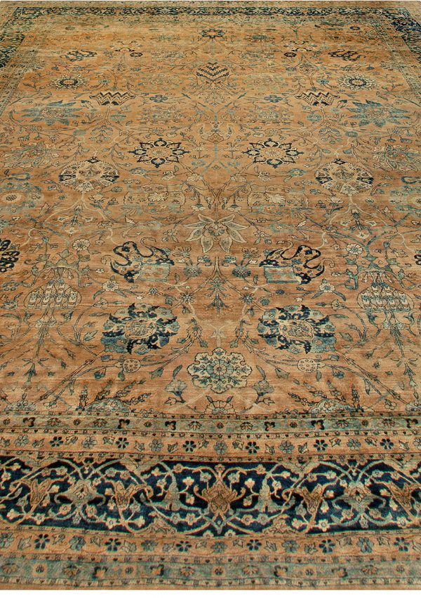 Large Antique Persian Kirman Rug BB6833