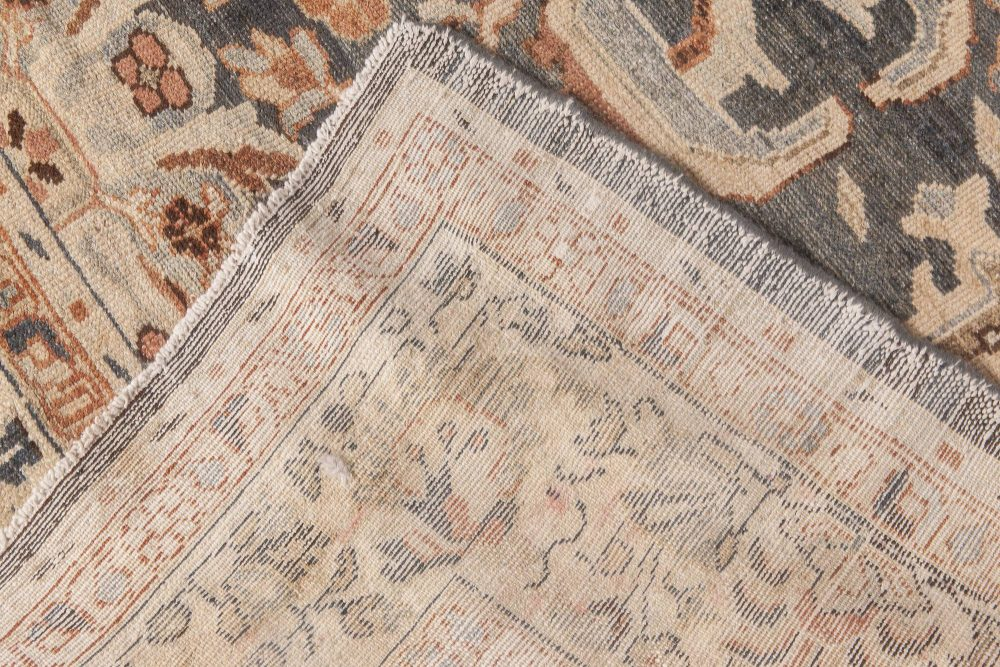 1920s Persian Sultanabad Handwoven Wool Rug in Beige, Gray and Brown BB6590