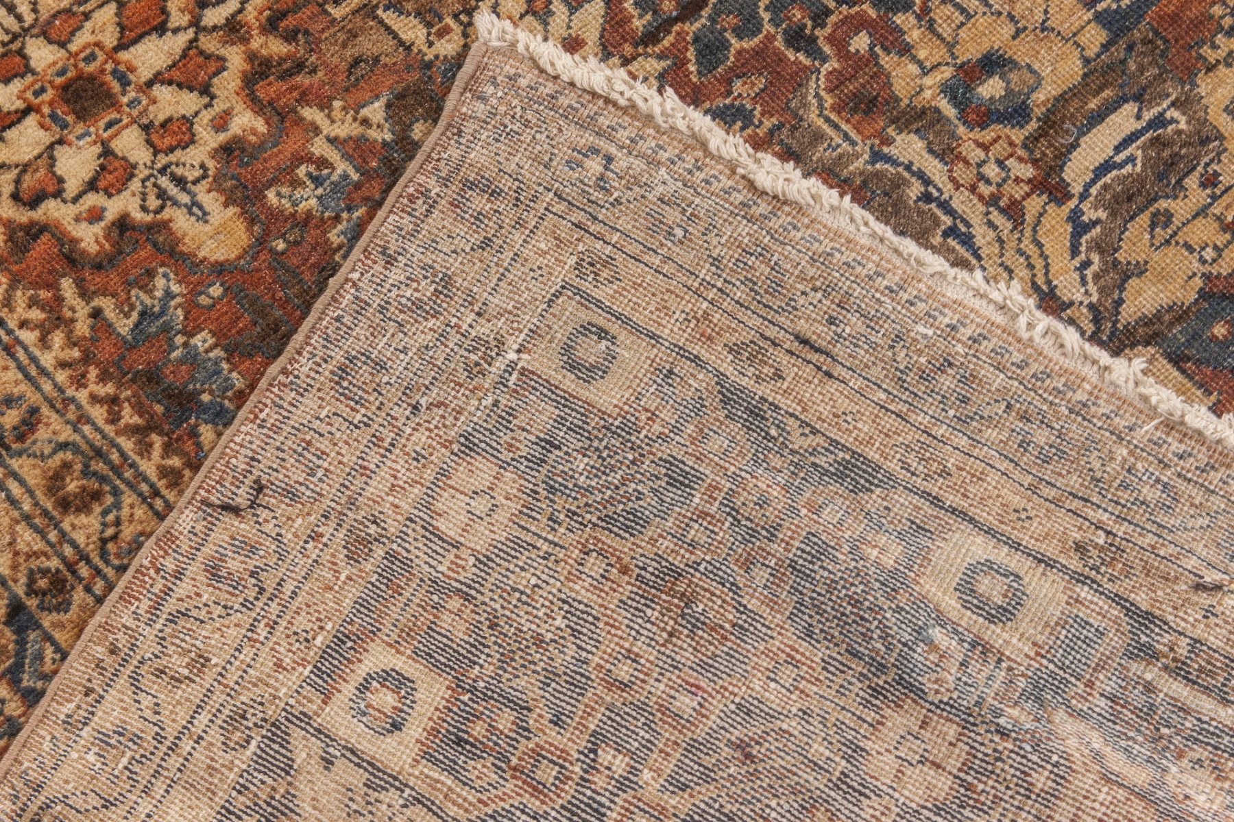Antique Persian Sultanabad Brown Handwoven Wool Carpet BB6598
