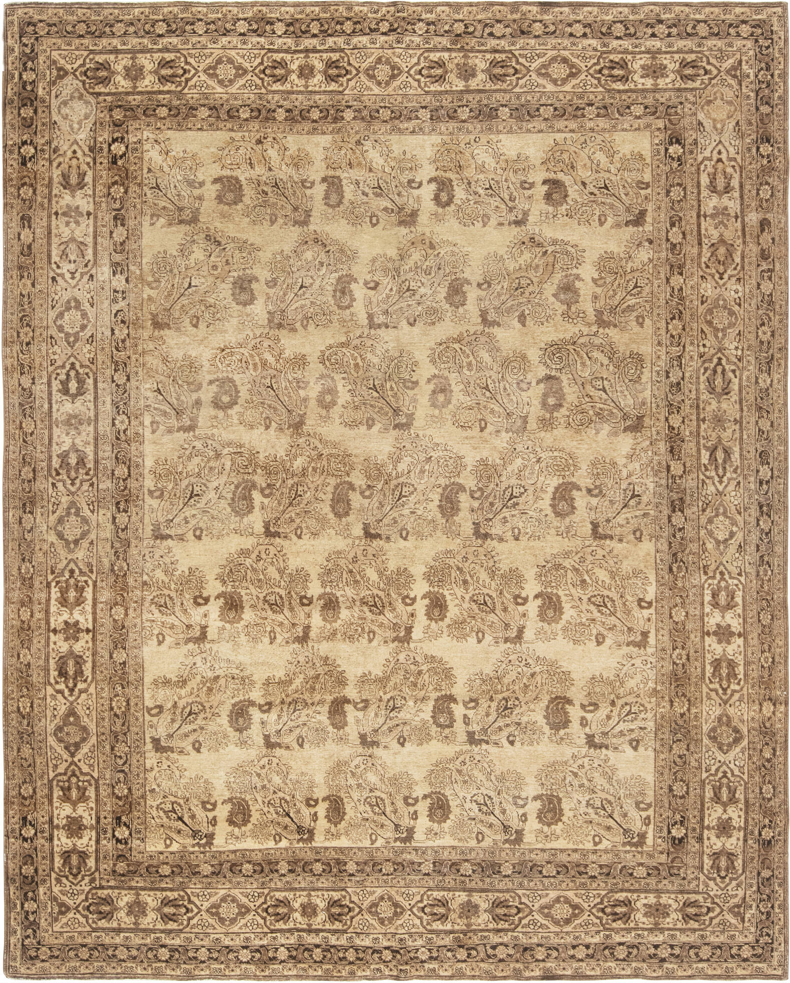 Antique Persian Tabriz Rug BB6608