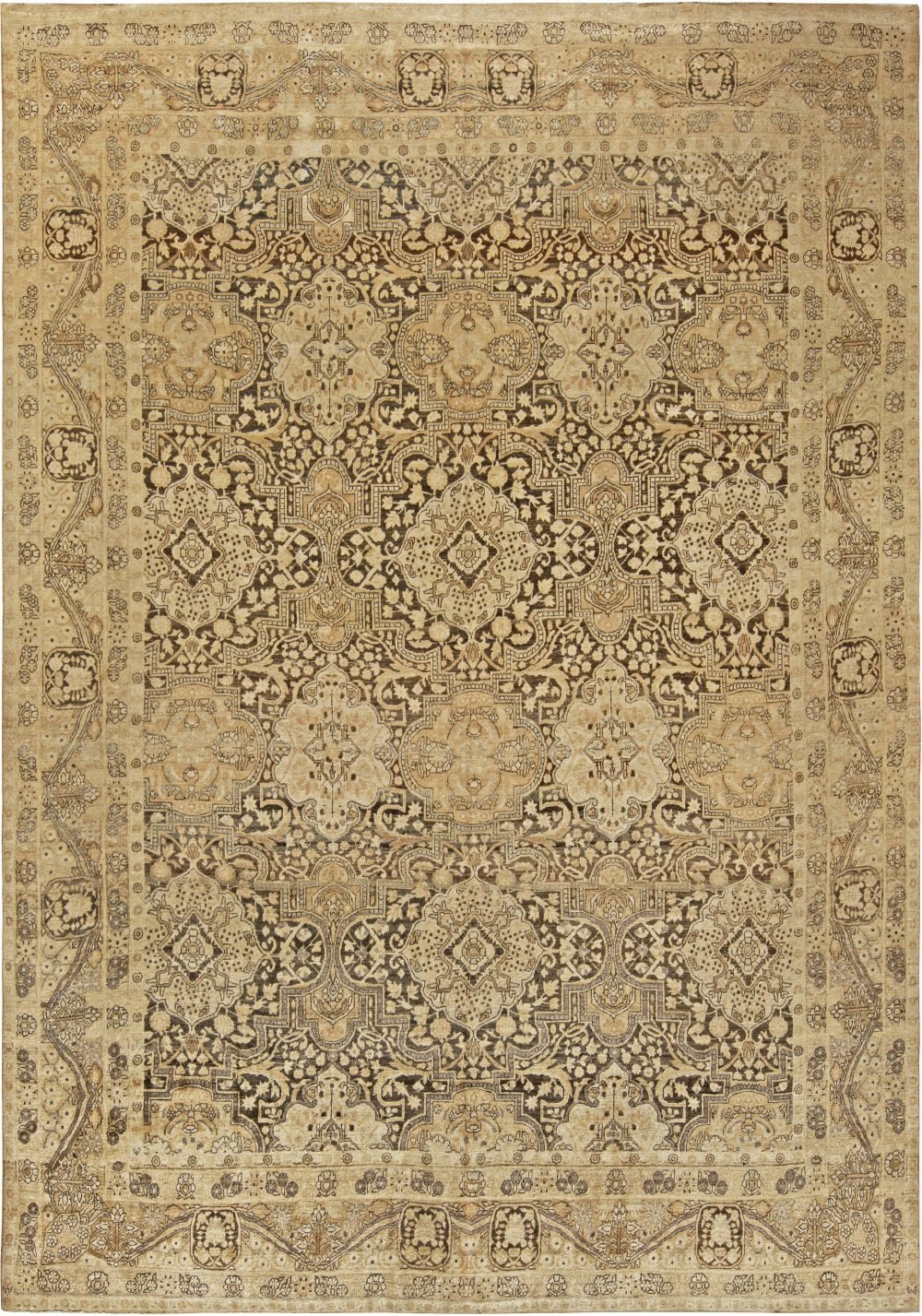 Vintage Persian Tabriz Rug BB6801