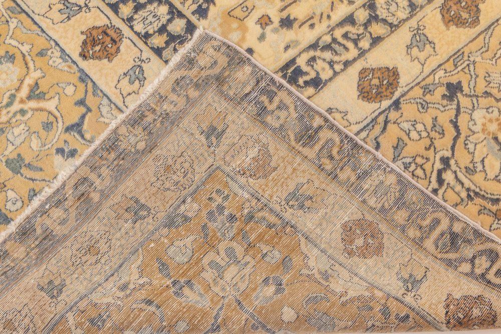 Antique Persian Tabriz Beige Handwoven Wool Rug BB6604
