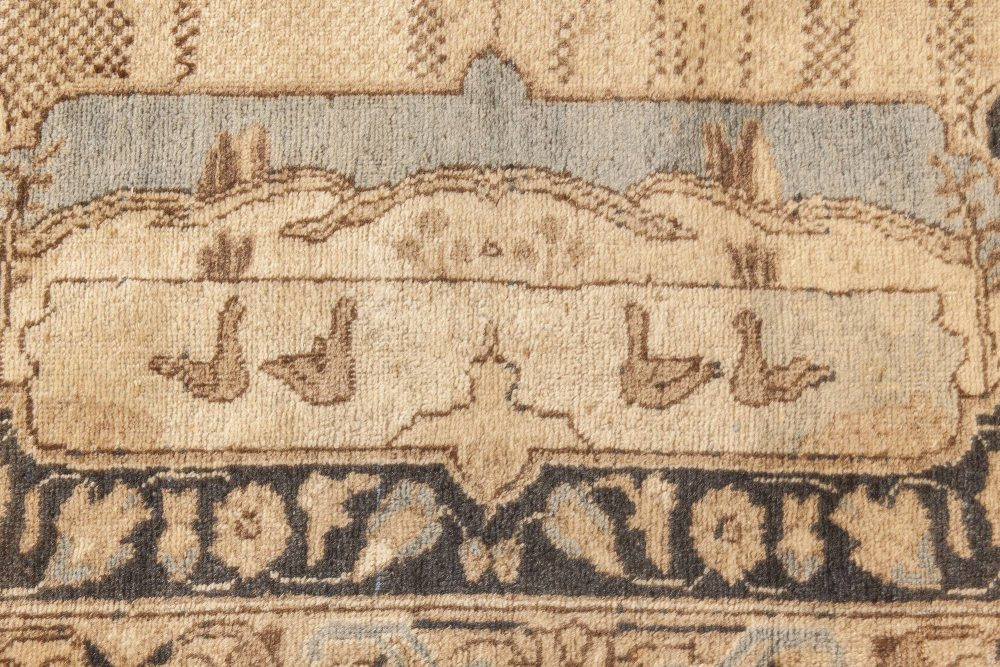 Persian Tabriz Rug in Beige, Brown, Dusty Blue and Slate BB6607