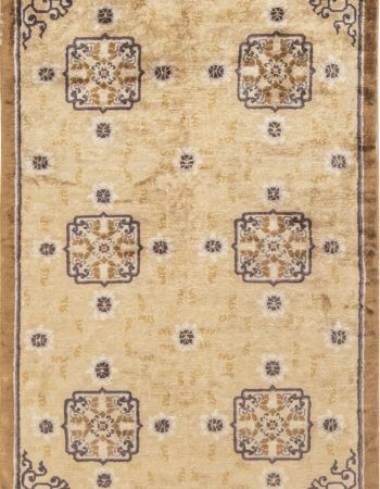 Antique Silk Chinese Rug. BB6891