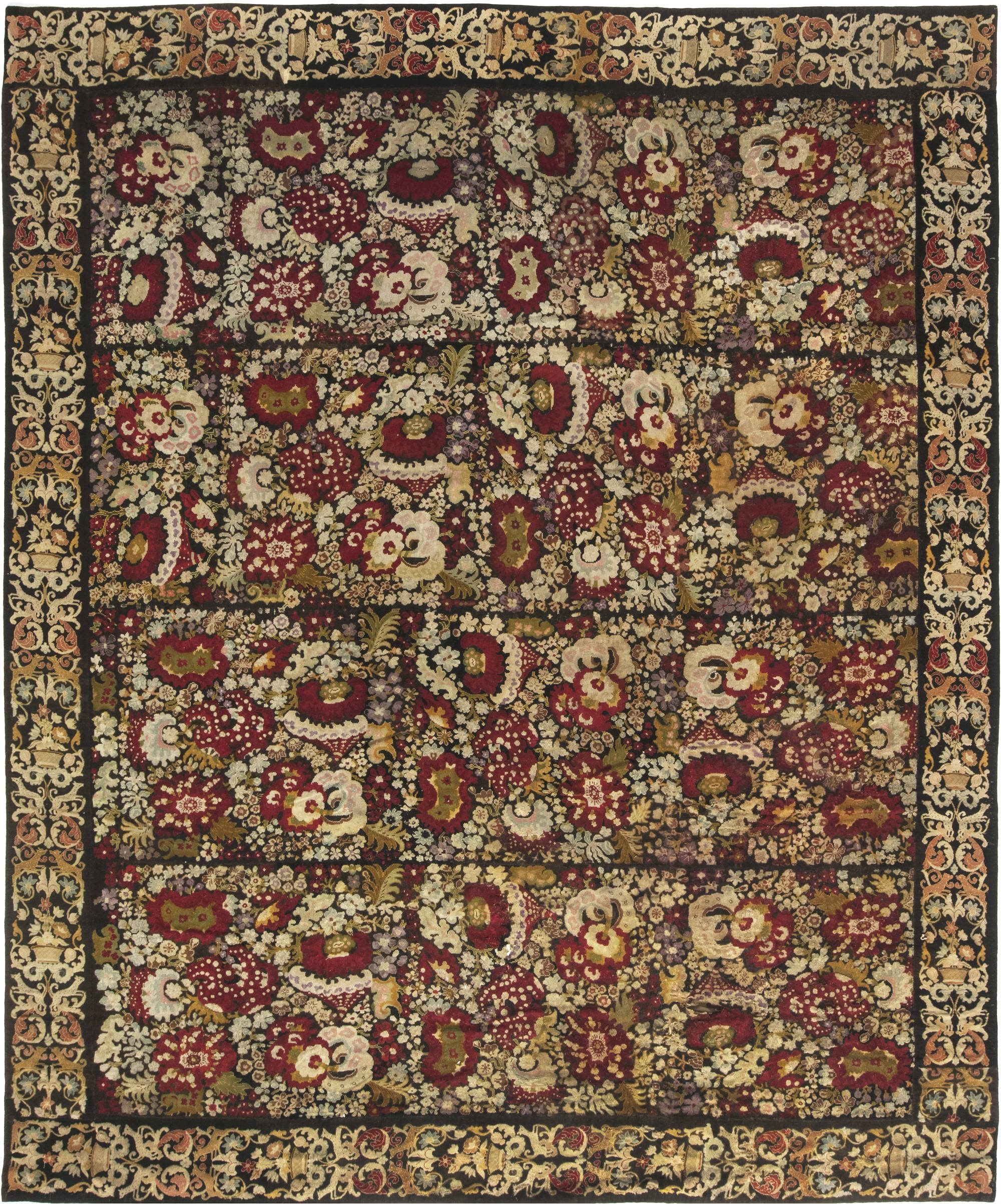 19th Century English Needlework Rug BB6645