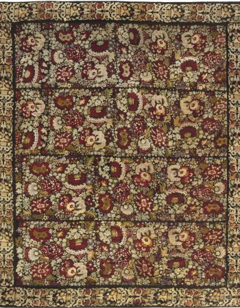 ANTIQUE ENGLISH NEEDLEWORK RUG BB6645
