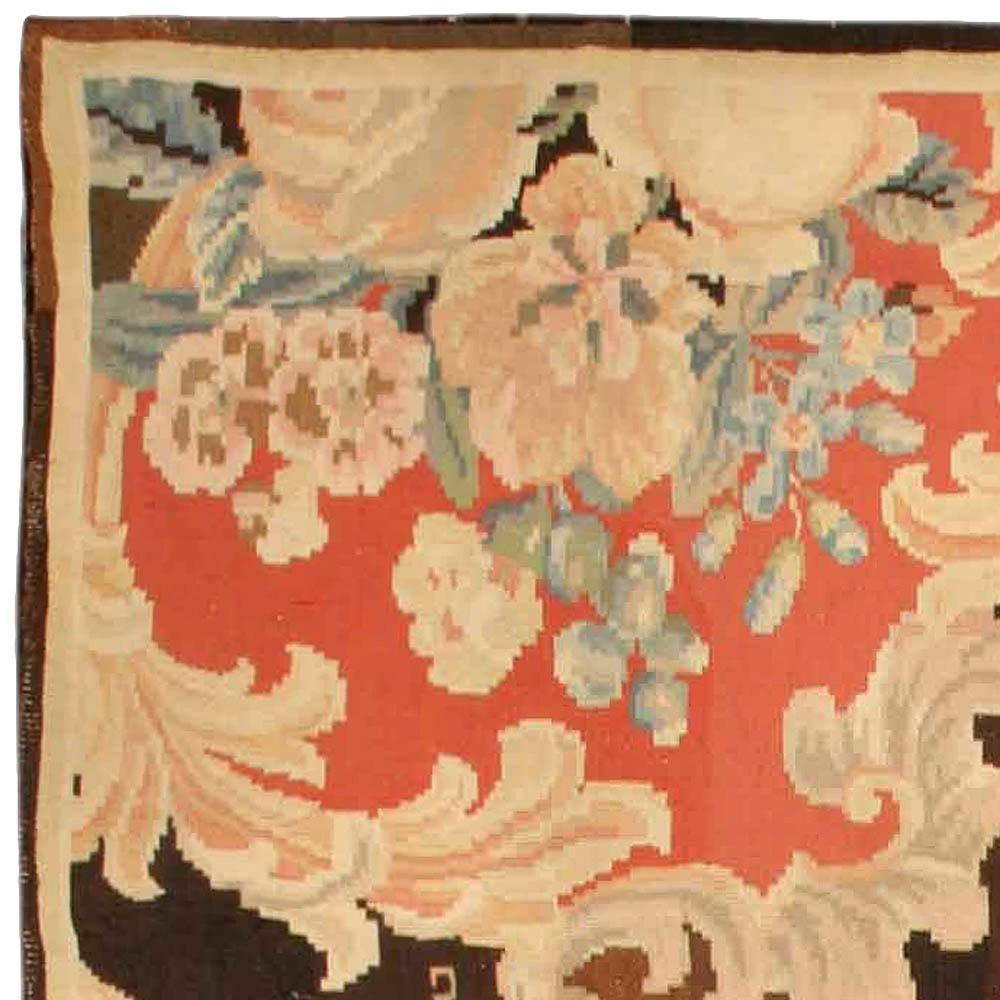 Bessarabian Floral Bouquets Design Handmade Carpet BB6712