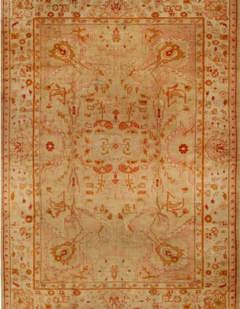 Antique Turkish Oushak Rug BB6676