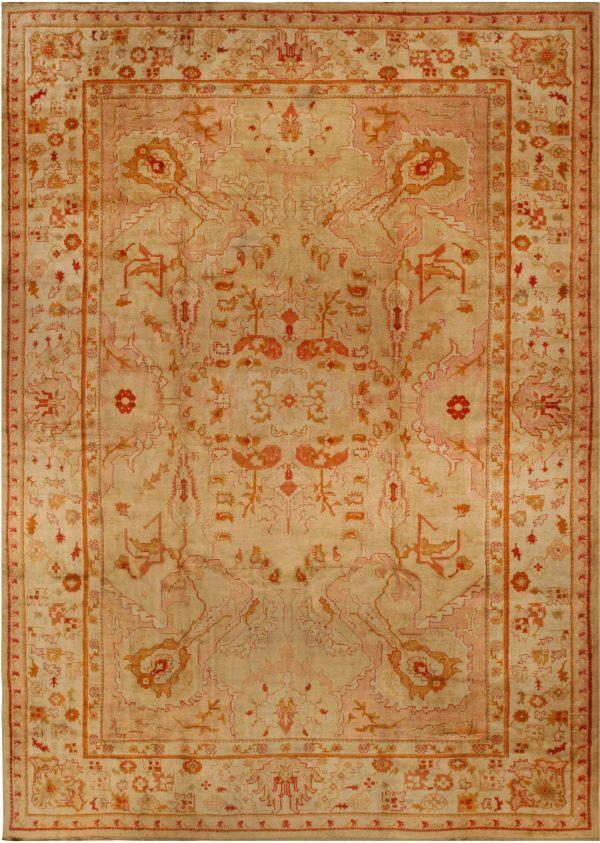 Antique Turkish Oushak Rug BB6676