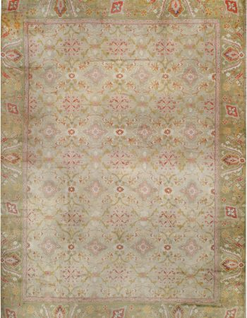 Oversized Antique Turkish Oushak Rug BB6764