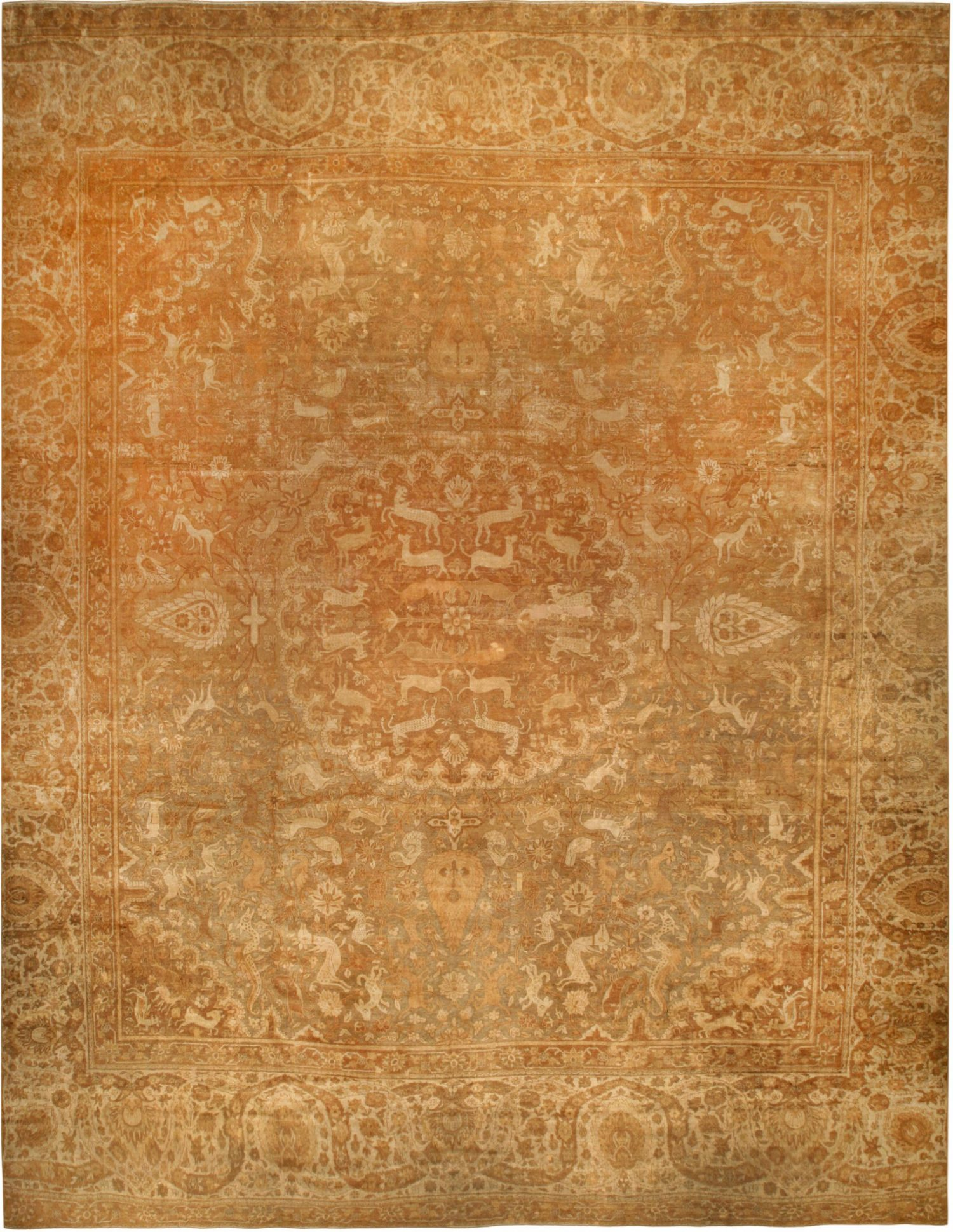 Oversized Vintage Indian Amritsar Rug BB6706