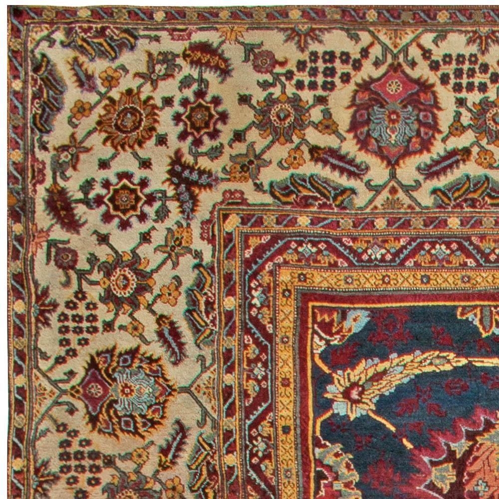 Oversized Antique Indian Amritsar Rug BB6812