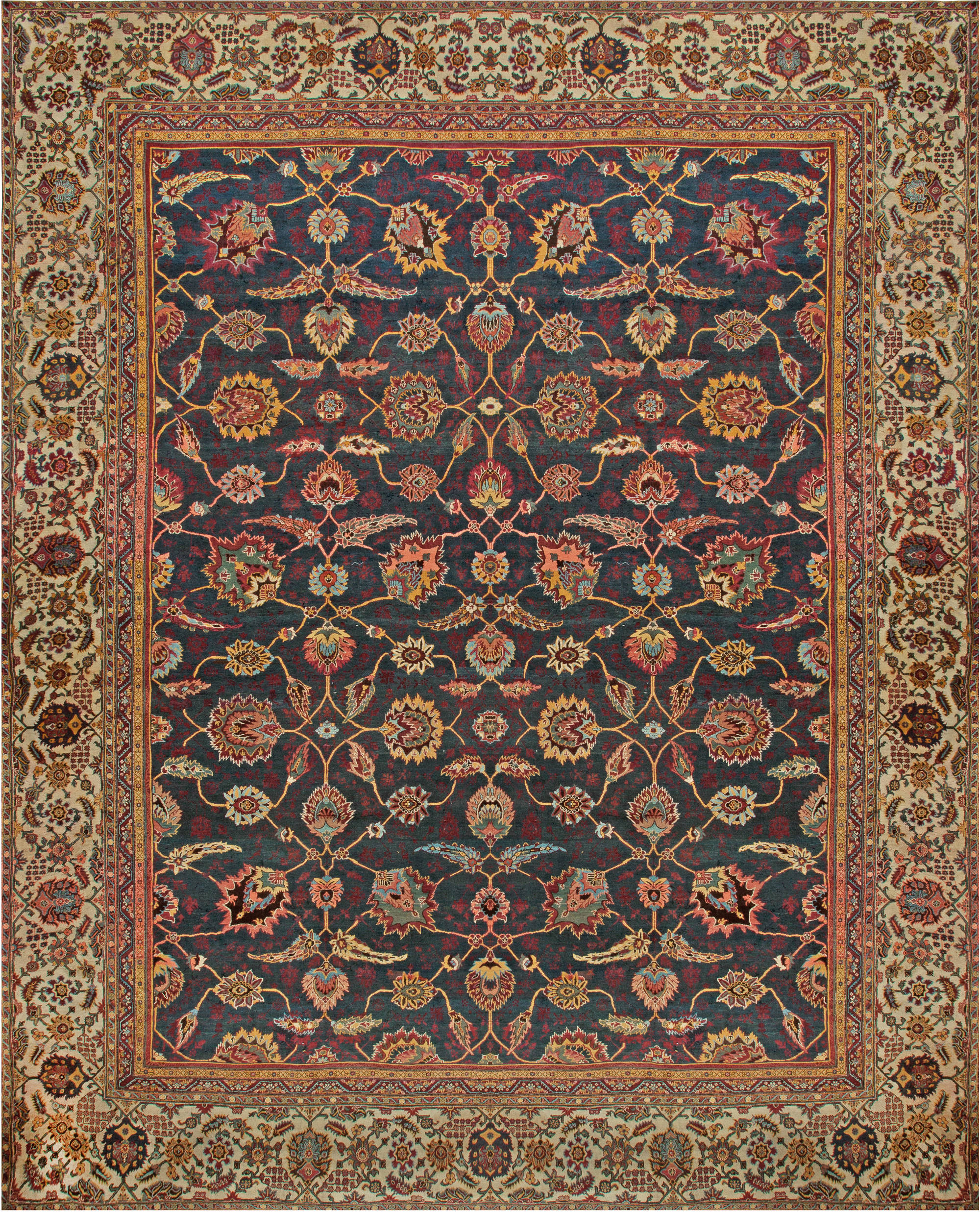 Antique Indian Rugs: Oversized Antique Indian Amritsar Rug BB6812 By Doris