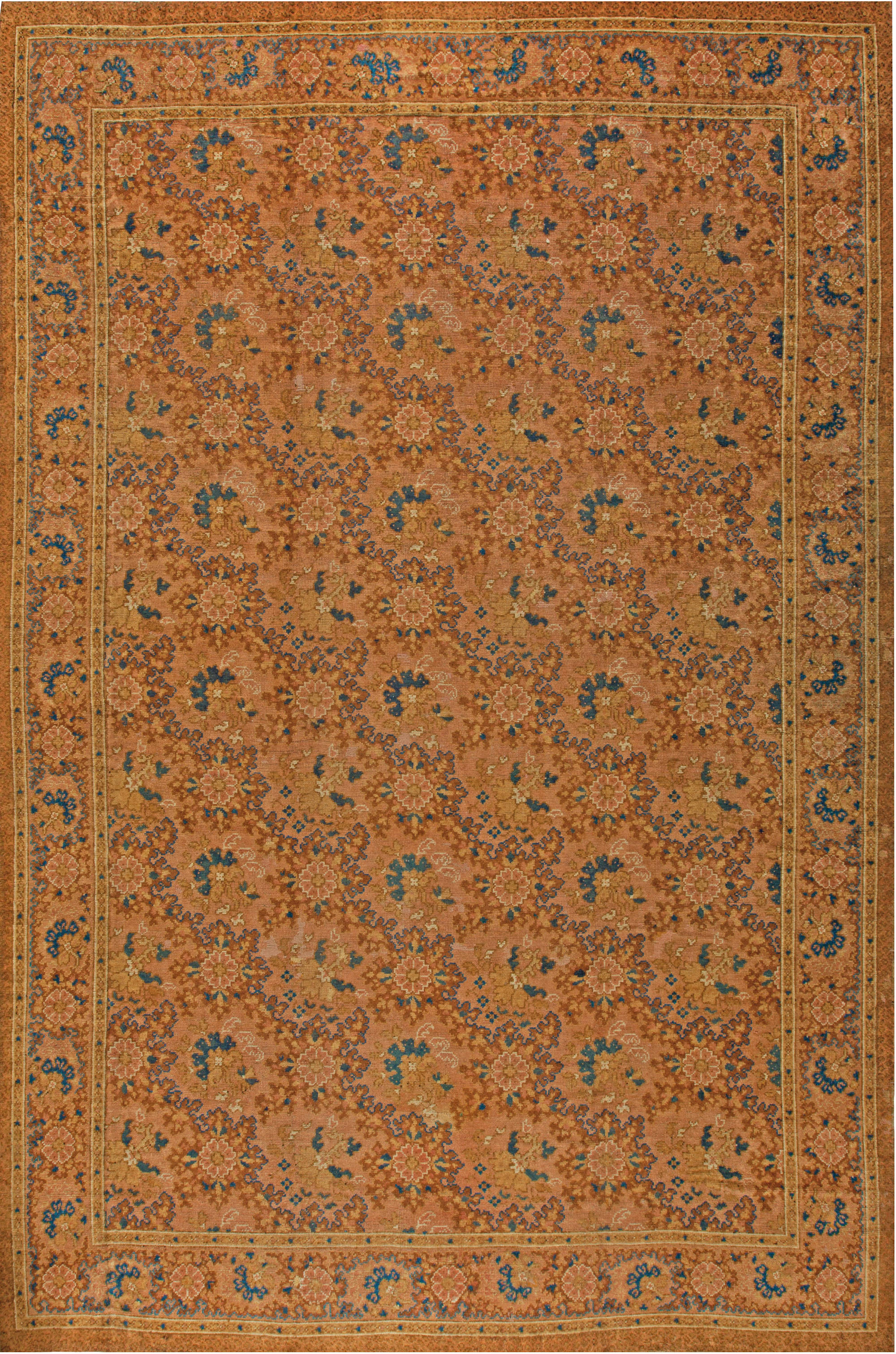 Antique English Axminster Carpet Bb6809 By Dlb