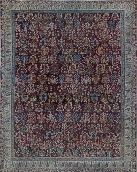 antique-rugs-indian-amritsar-pink-red-blue-botanical-17×14-bb6856