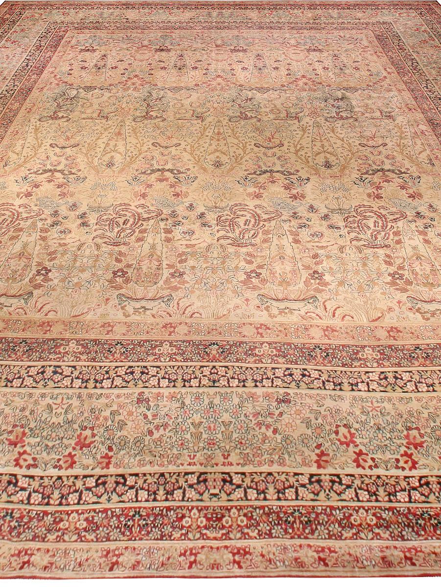 Oversized Vintage Persian Kirman Rug BB6769