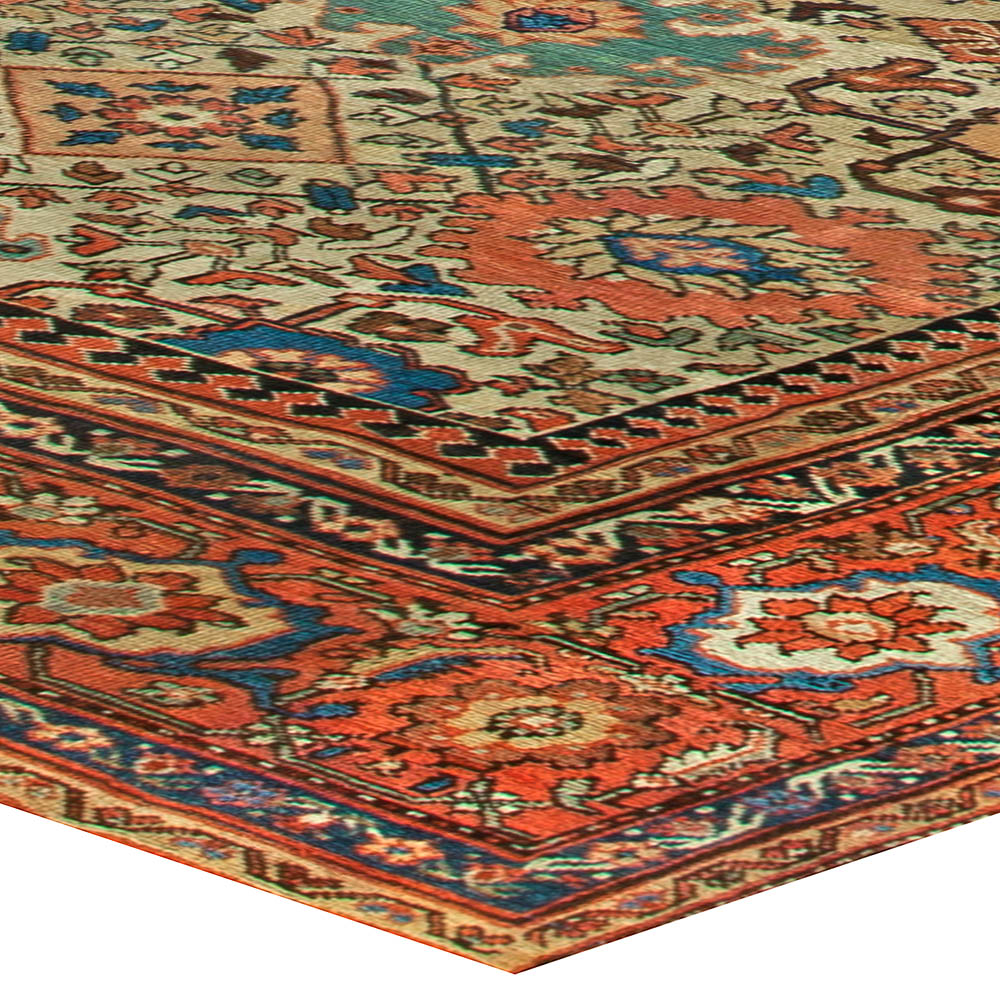 Sultanabad Antique Handwoven Wool Rug BB6825