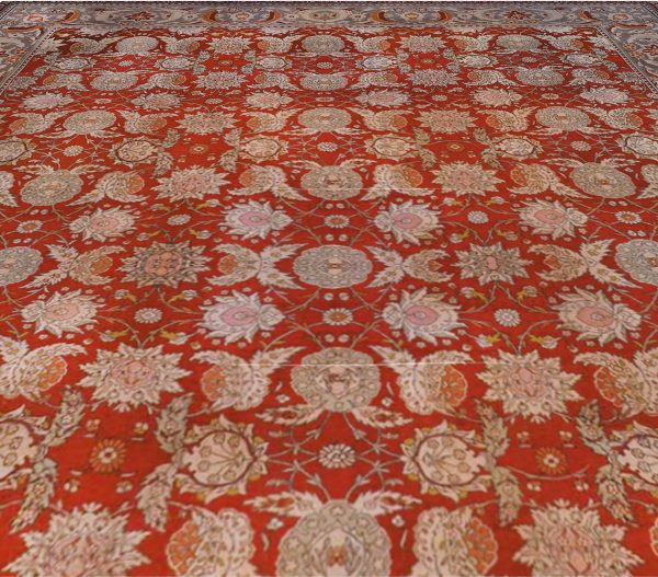 Antigüedades Hereke alfombra turca BB6684
