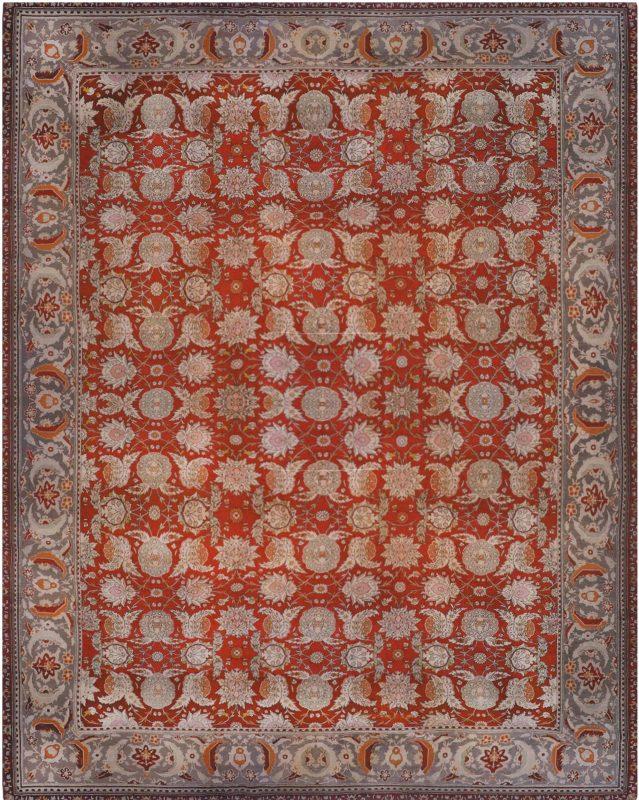 Antique Turkish Hereke Carpet BB6684